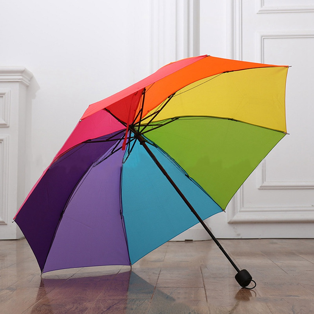 Compact Travel Umbrella Walmart Tri Fold Lotus Leaf Rainbow Color Umbrella Umbrella