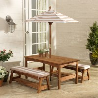 KidKraft Outdoor Table & Bench Set with Cushions ...
