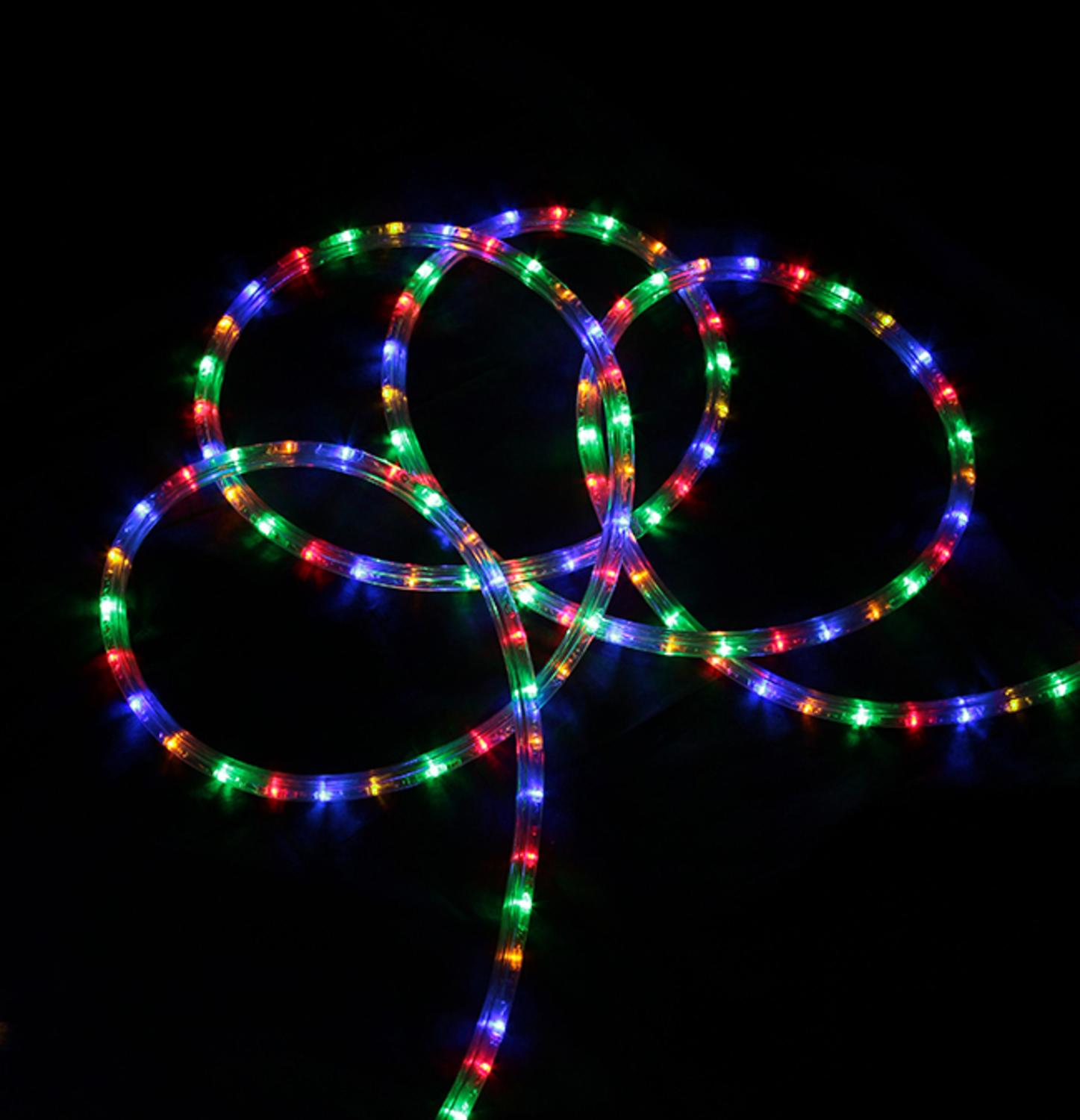 Led Lights At Walmart 18 Multi Color Led Indoor Outdoor Christmas Rope Lights