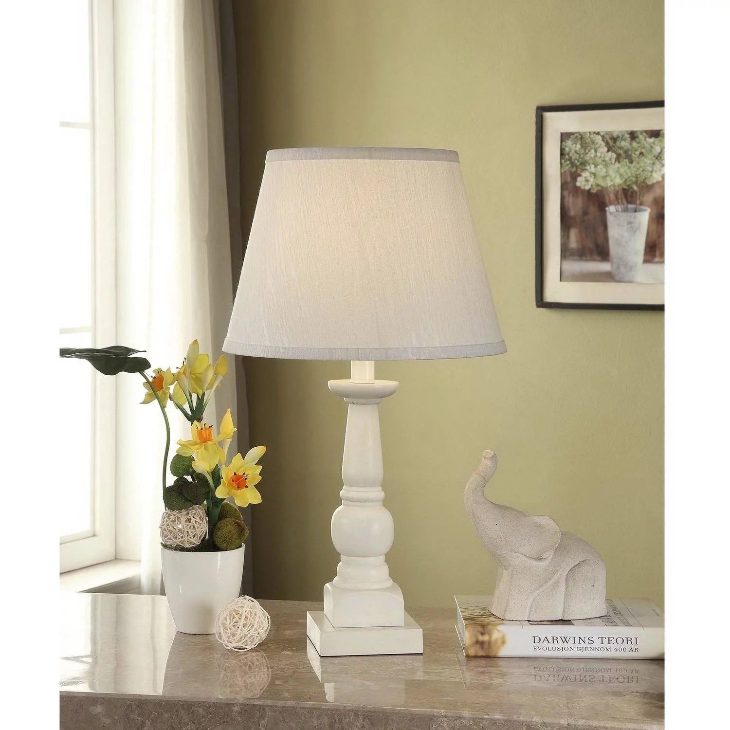 Table Lamp Base Mainstays Washed Finish Wood Table Lamp Base