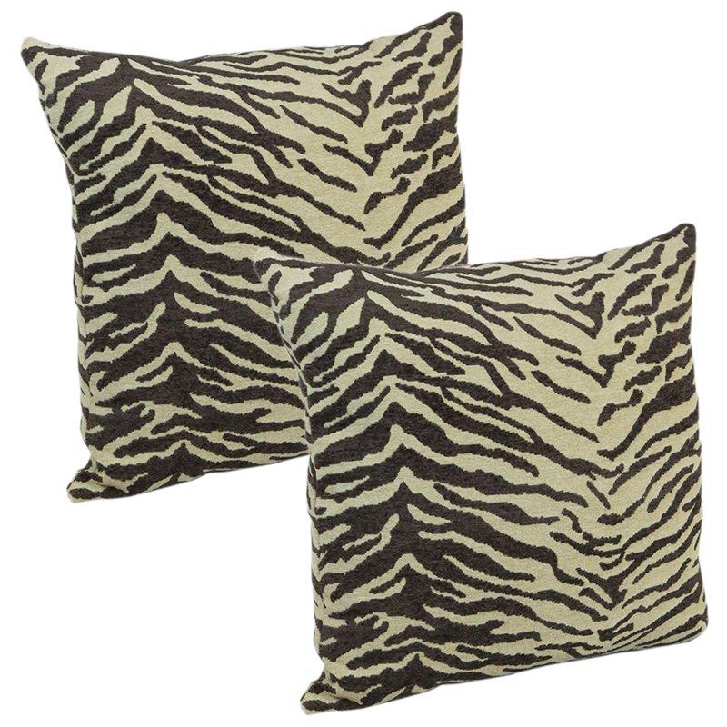 Klear Vu Faux Tiger Animal Skin Decorative Throw Pillow