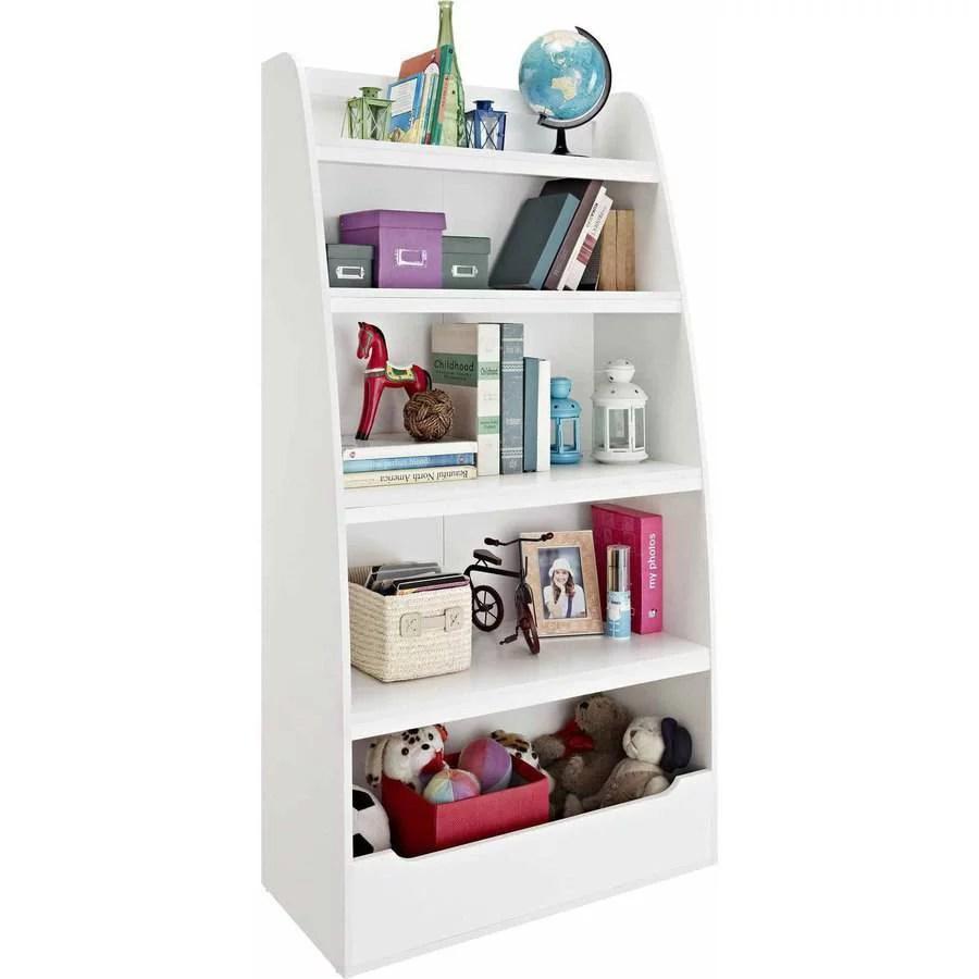 Ameriwood Home Mia Kids39 4 Shelf Bookcase White