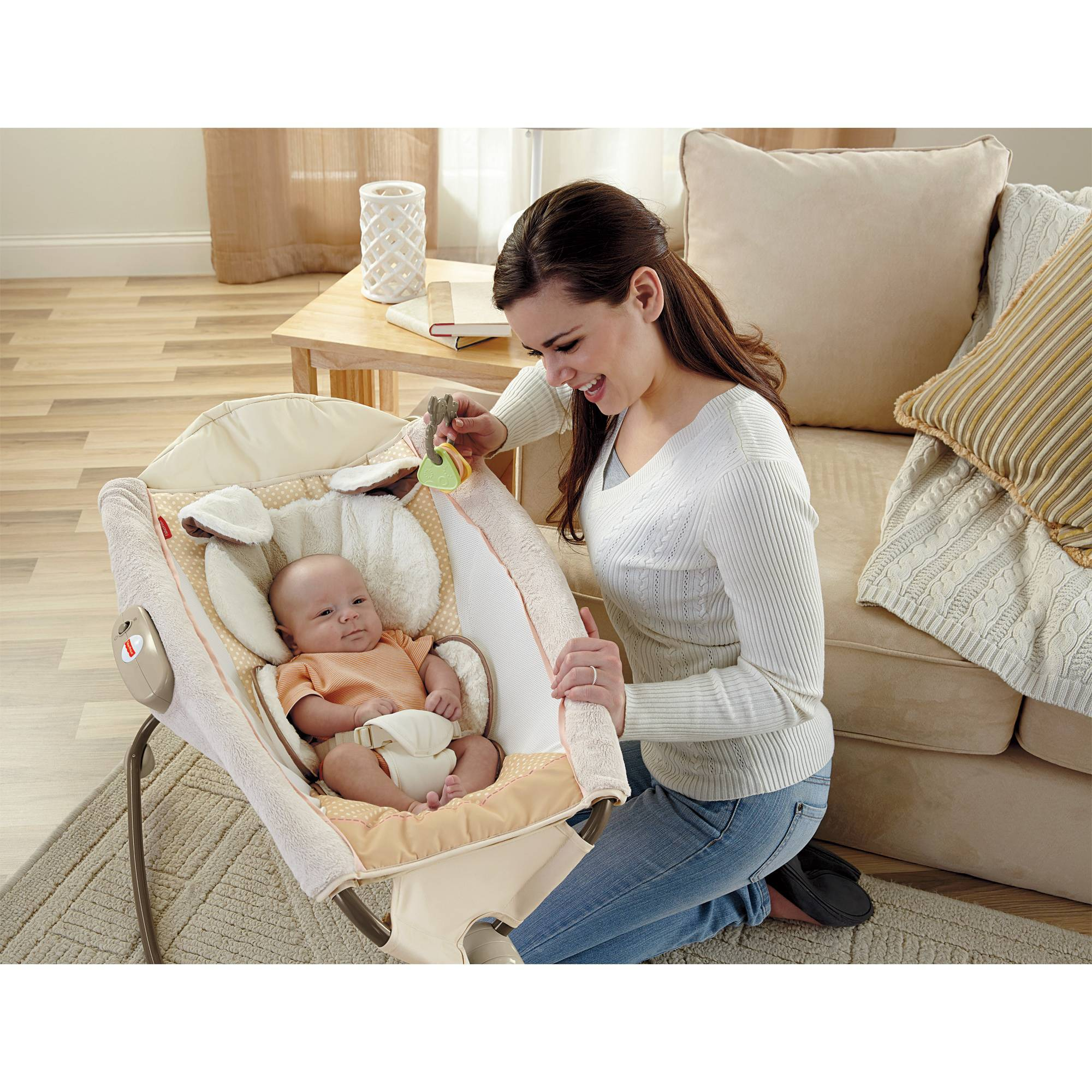 Baby Rocker Bed Baby Bedside Sleeper Inclined Rocker Vibrating Portable