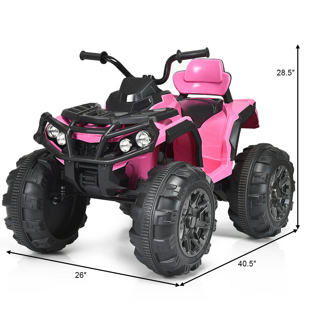 12v Led Quad Costway 12v High End Kids Atv Quad 4 Wheeler Ride On Car 2 Speed W Mp3 Led Lights