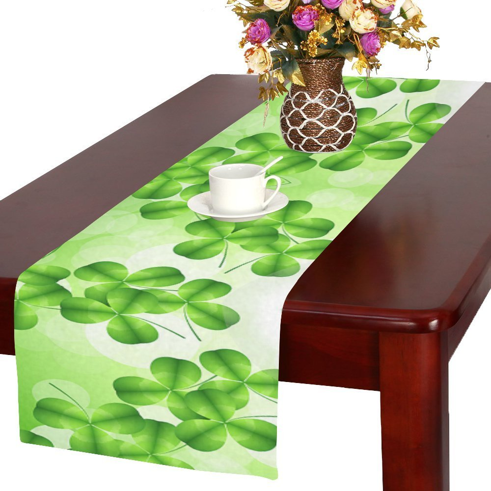 Mypop St Patrick S Day Funny Table Runner Table Decoration For Wedding Party Dinner Holiday Picnic 16x72 Inches Walmart Com Walmart Com