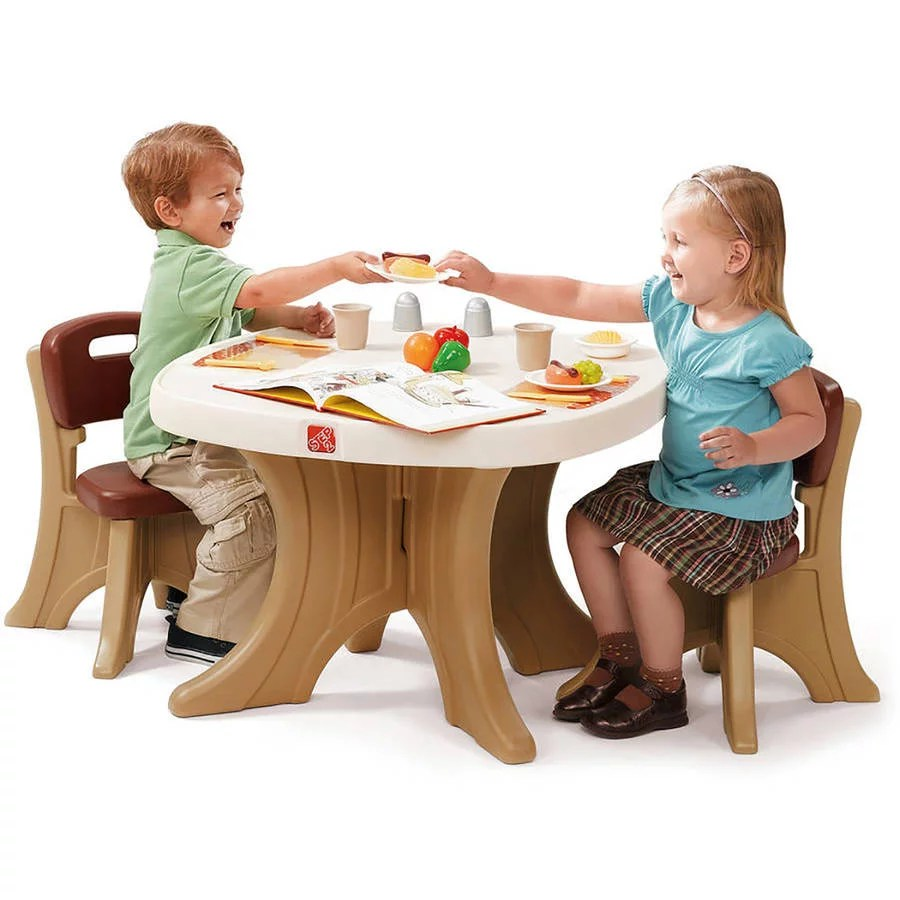 Childrens Table And Chair Set Details About Step2 New Traditions Kids Table And 2 Chairs Set Brown