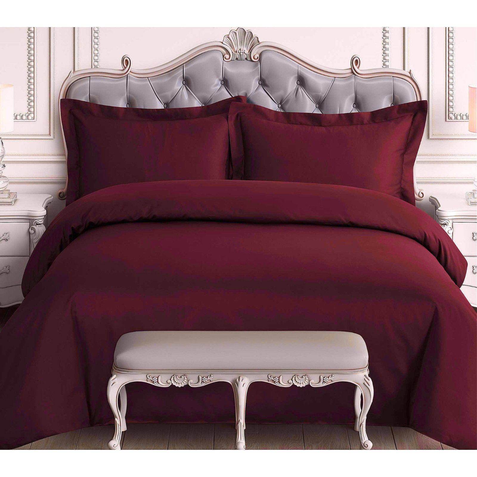 Dressing A Bed 2pc Set Solid Chic Duvet Comforter Bed Dressing Top Cover Bedroom Modern DÉcor Twin Brown