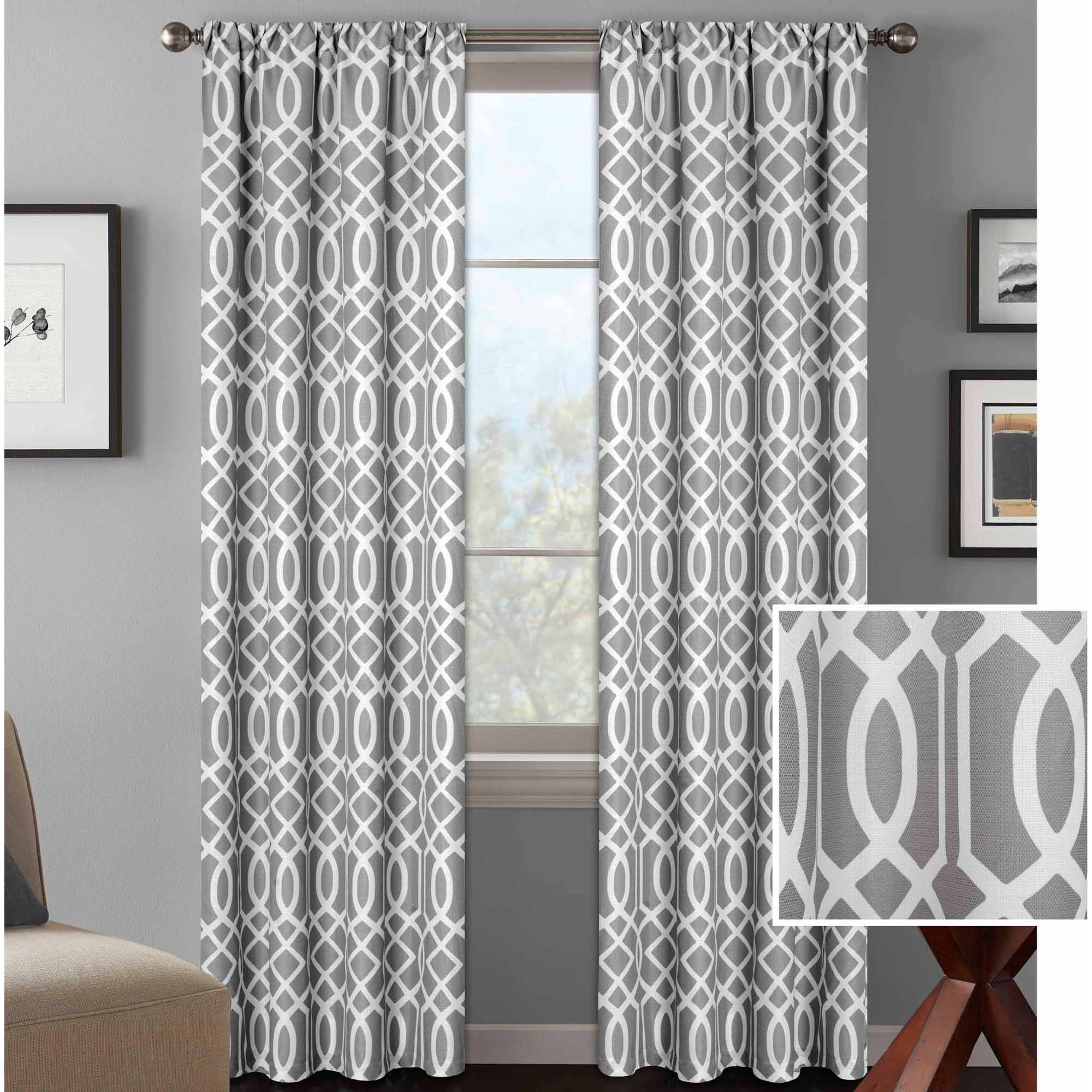 Curtains For Sale At Walmart Mainstays Sailcloth Rod Pocket Curtain Panel Set Of 2