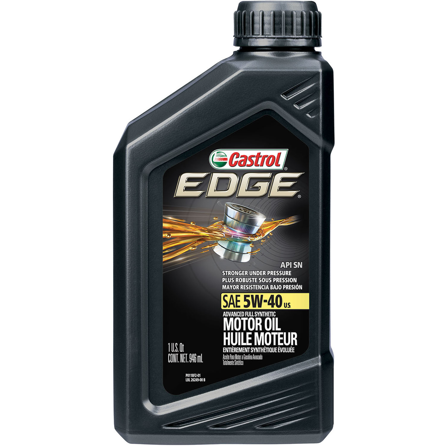 5 W 40 Castrol Edge 5w 40 Advanced Full Synthetic Motor Oil 1 Qt