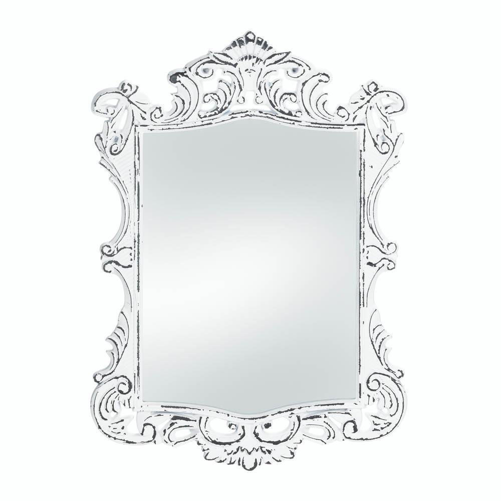 Bathroom Mirrors For Wall Bedroom Wall Art Cool Regal White Etched Wall Mirror Walmart Com