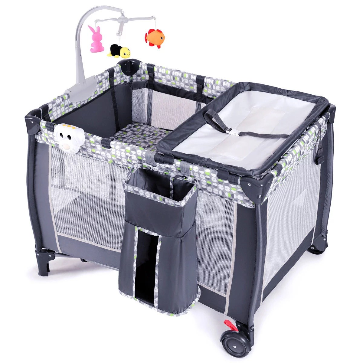 Baby Playpen How Foldable Travel Baby Playpen Crib Infant Bassinet Bed Mosquito Net Music W Bag