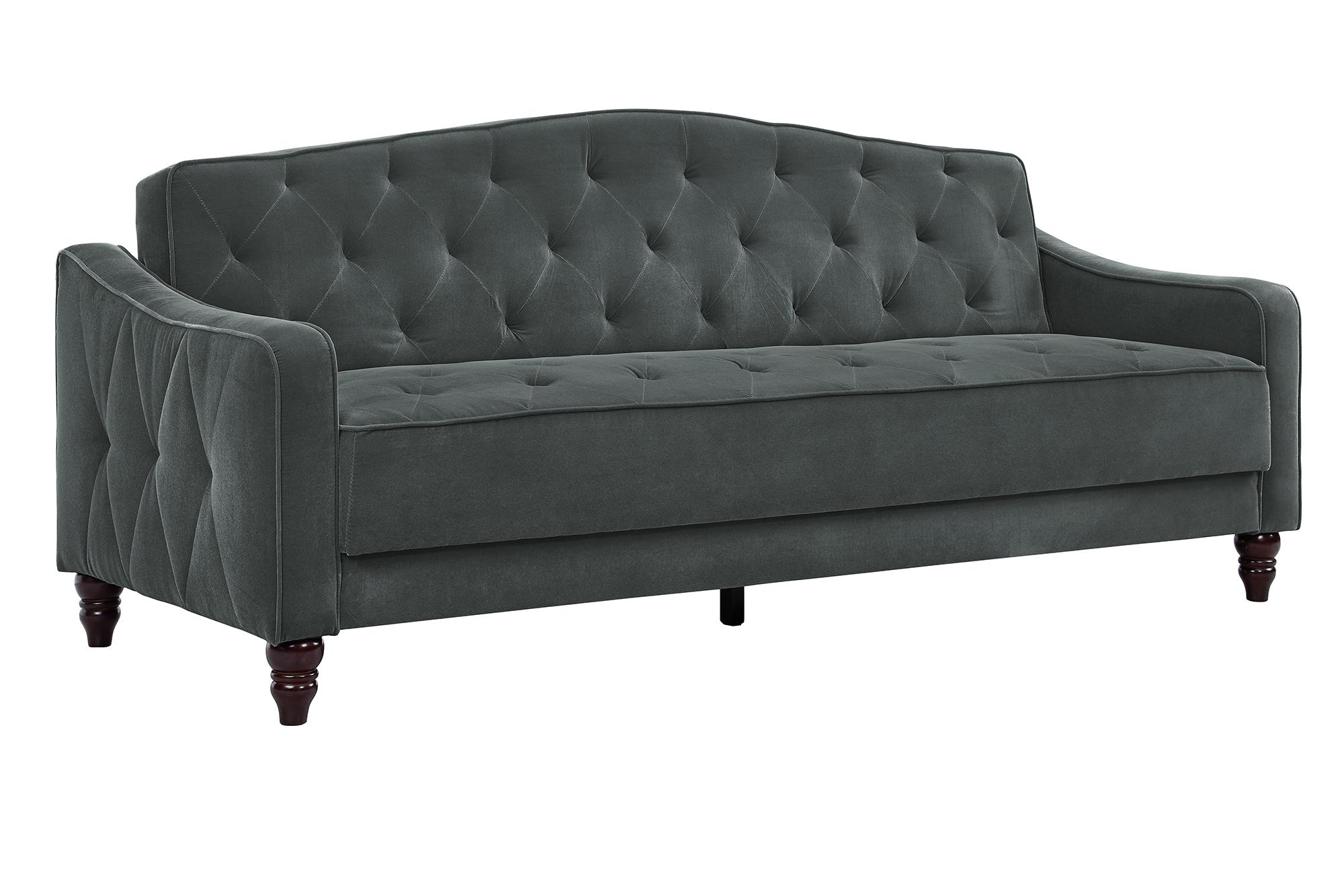 Couch Sofa Novogratz Vintage Tufted Sofa Sleeper Ii Multiple Colors