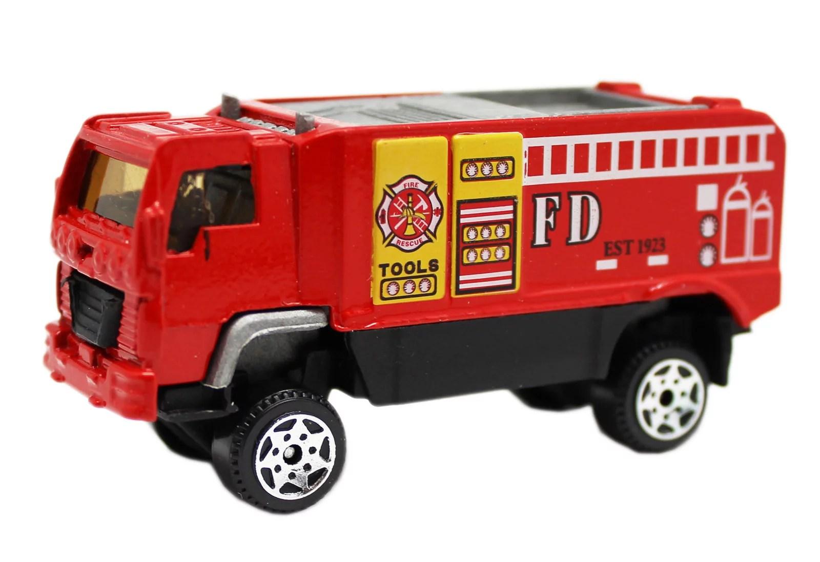 Die Cast Utility Fire Truck Model Vehicle Toy Walmart