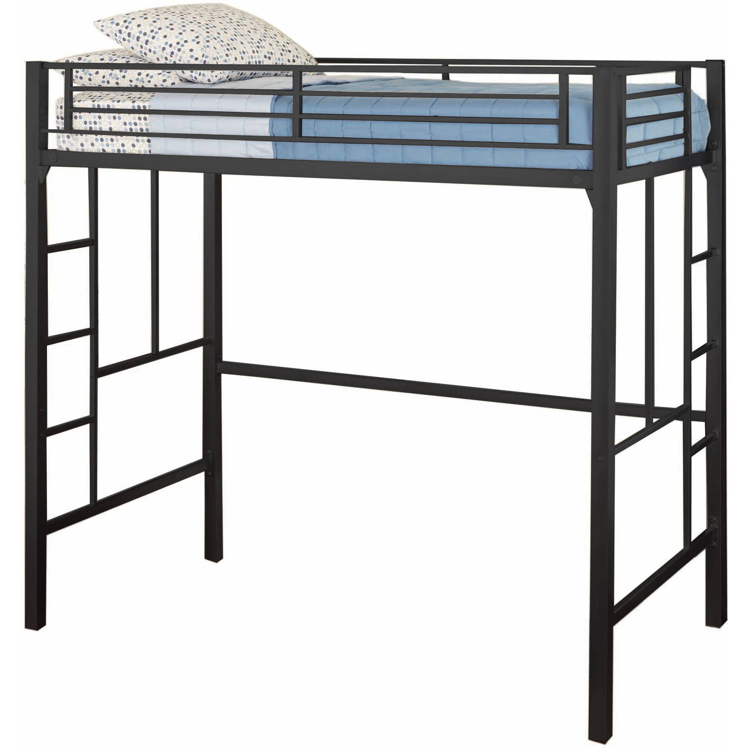Black Loft Bed Twin Loft Bed Kids Bedroom Furniture Bunk Beds Dorm