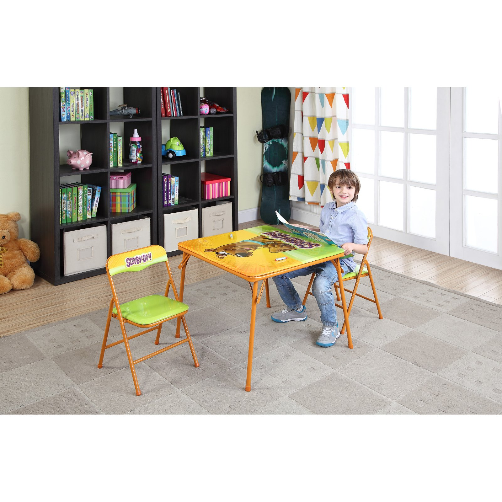 Children's Trestle Table O Kids Scooby Doo Children S Metal Table And Chairs Set