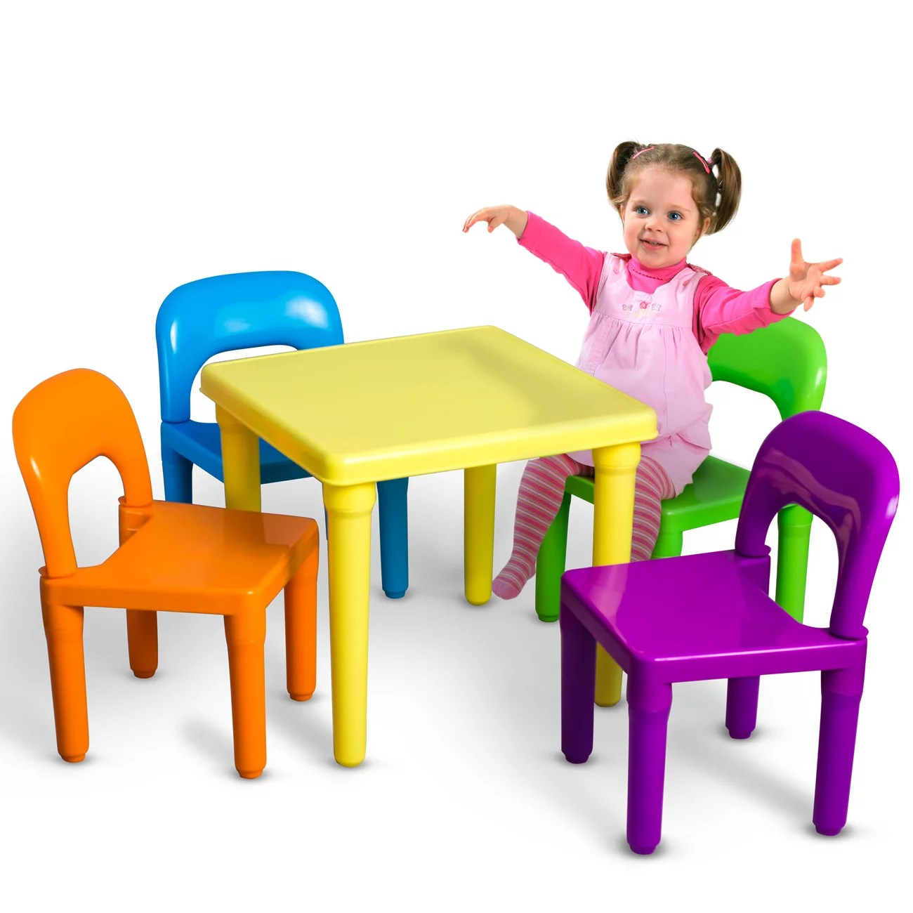 Childrens Table And Chair Set Oxgord Kids Table And Chairs Play Set For Toddler Child Toy Activity Furniture Indoor Or Outdoor