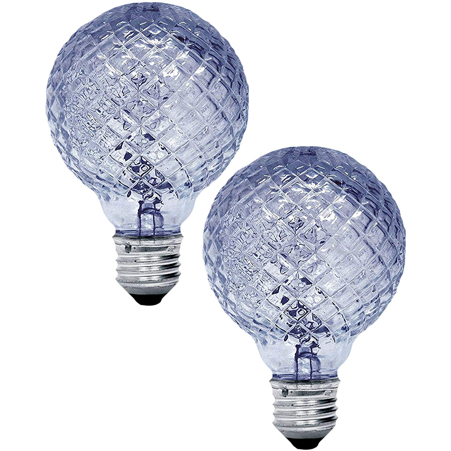 40 Watt In Lumen Ge Lighting 40 Watt 390 Lumen G25 Faceted Cut Glass Light Bulb With Medium Base 2 Bulbs
