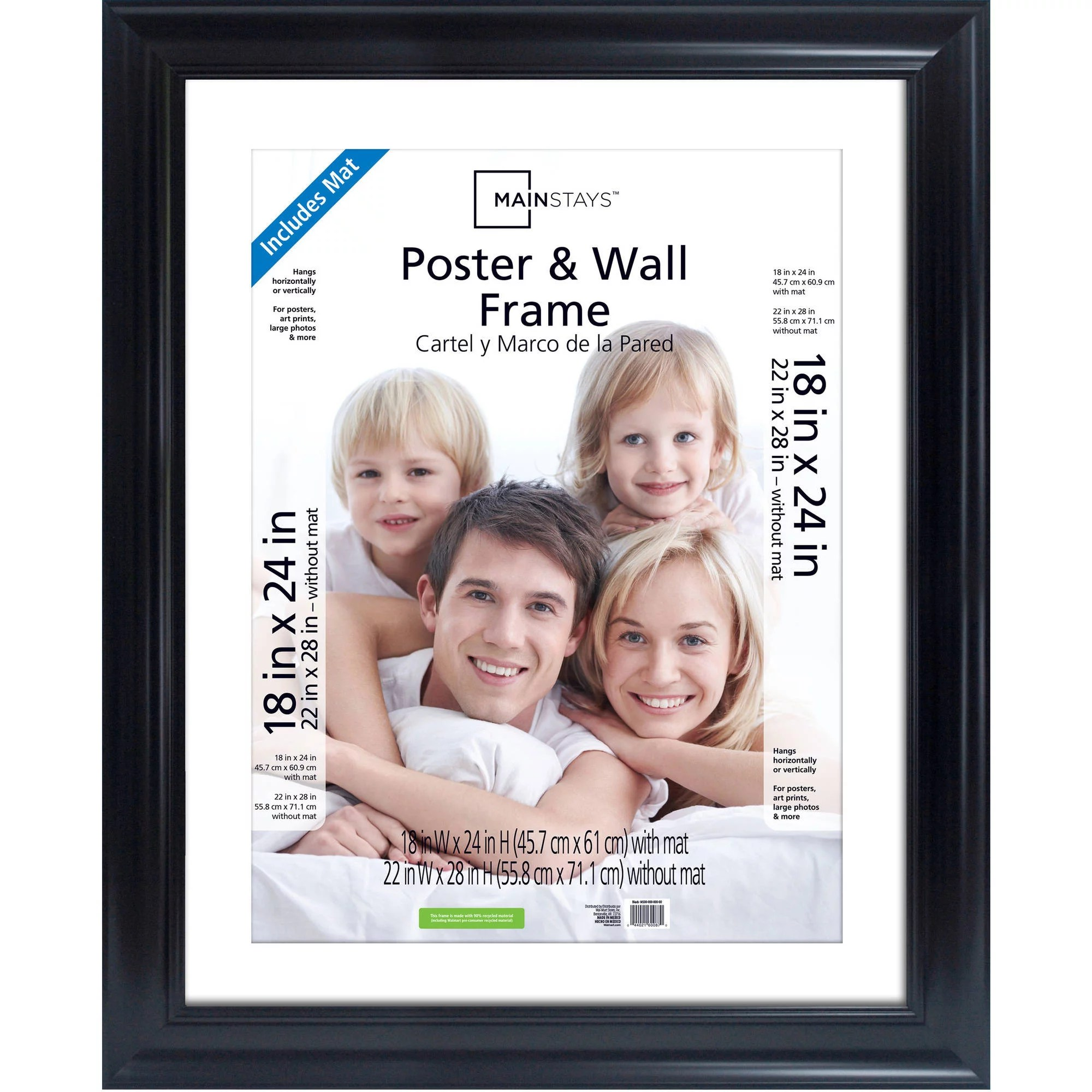 Foto 18x24 Mainstays 22x28 Matted To 18x24 Wide Poster And Picture Frame Black