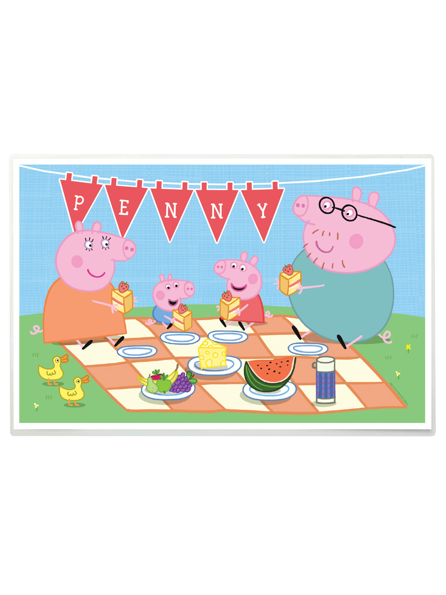 Cuisine Peppa Pig Personalized Peppa Pig Family Picnic Placemat