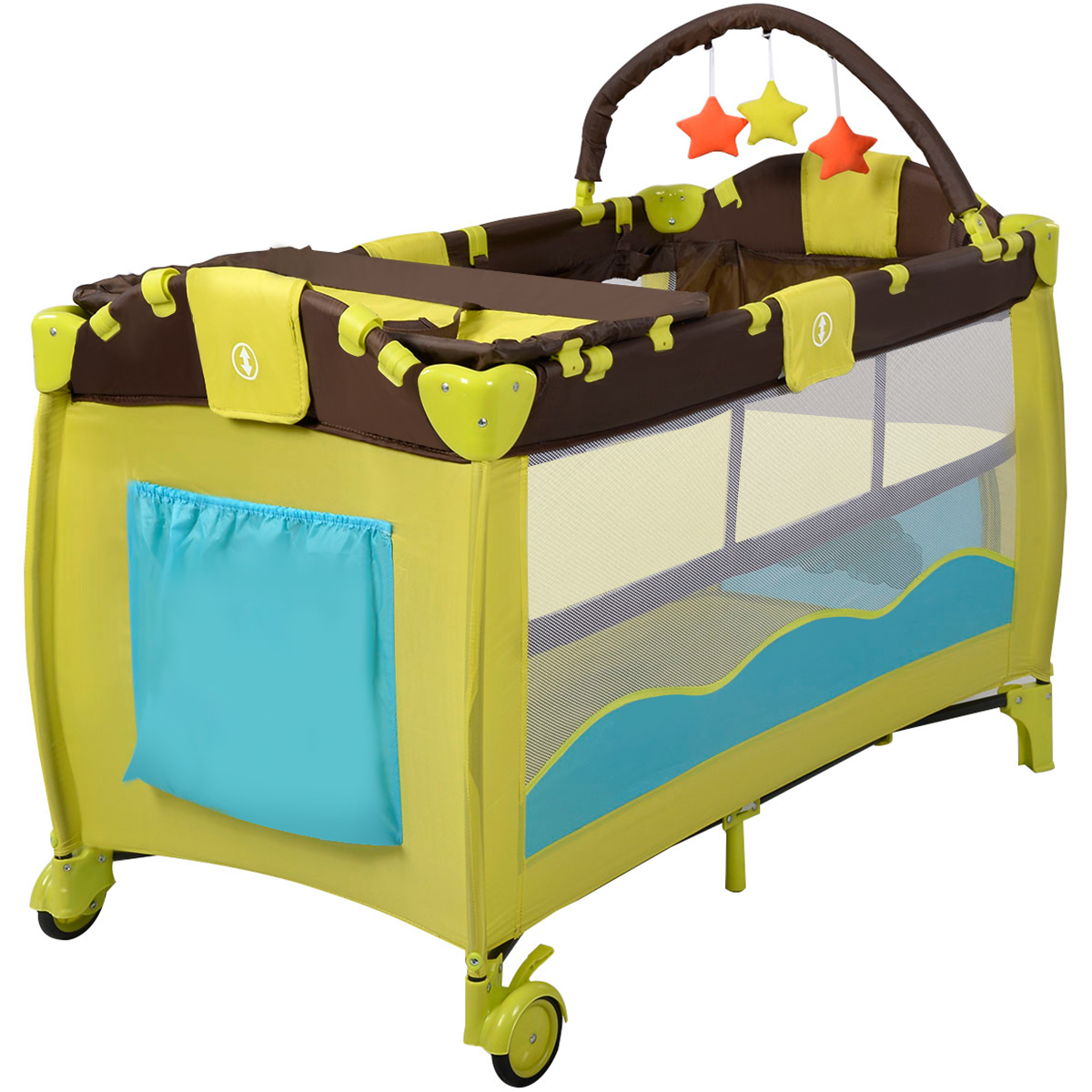 Baby Playpen Height New Green Baby Crib Playpen Playard Pack Travel Infant