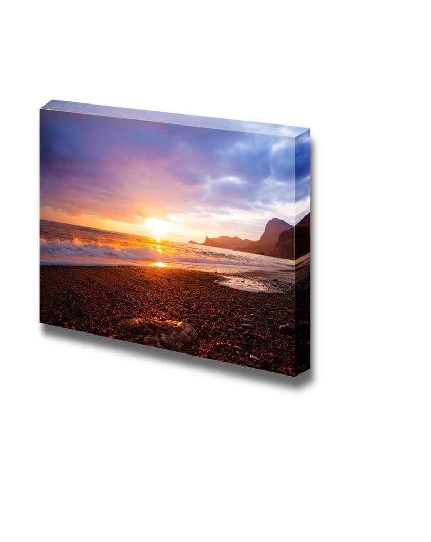 Printing Canvas Canvas Prints Wall Art Sea Sunset Landscape At The Beach Modern Wall Decor Home Decoration Stretched Gallery Canvas Wrap Giclee Print Ready To