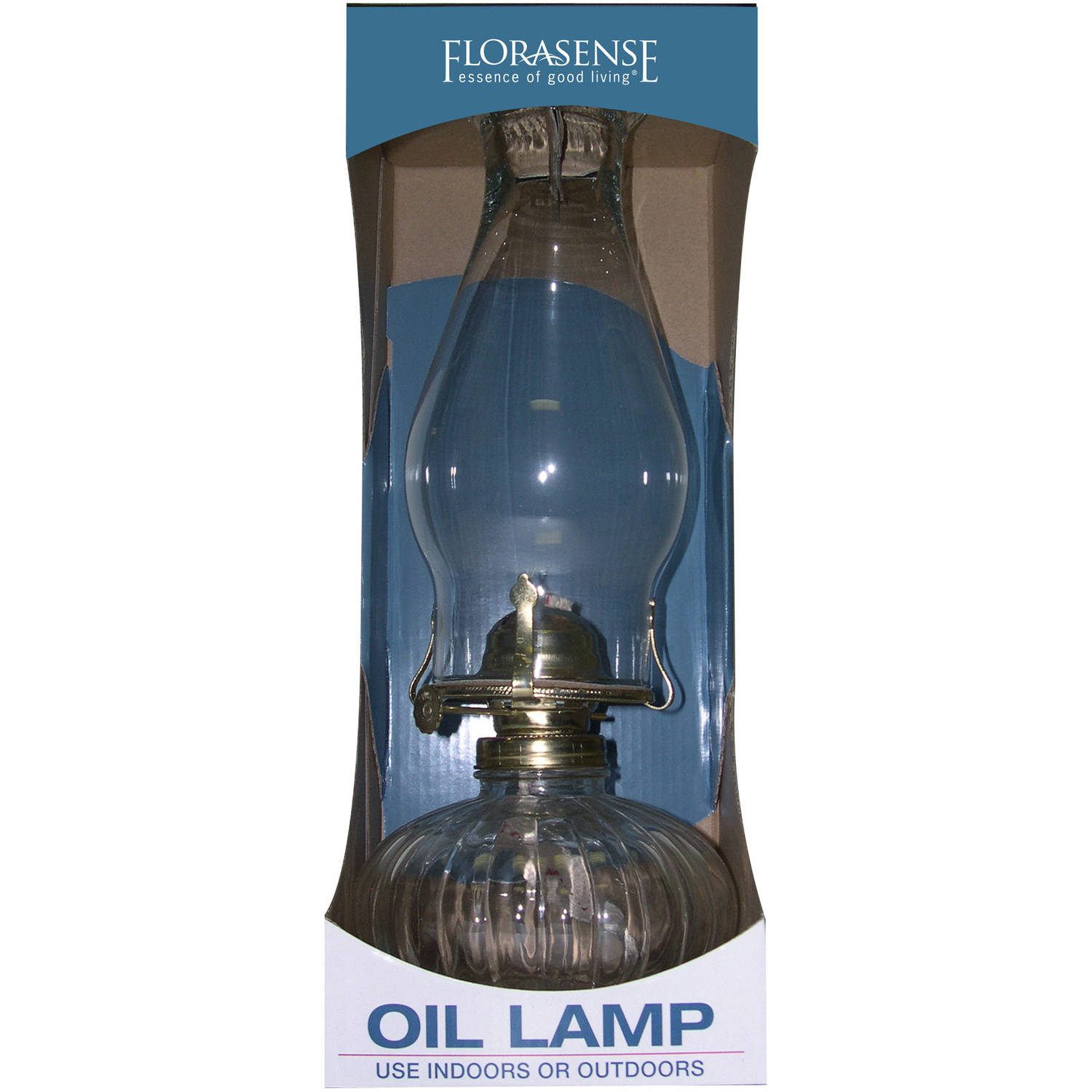 Modern Kerosene Lamp Florasense Glass Oil Lamp Clear