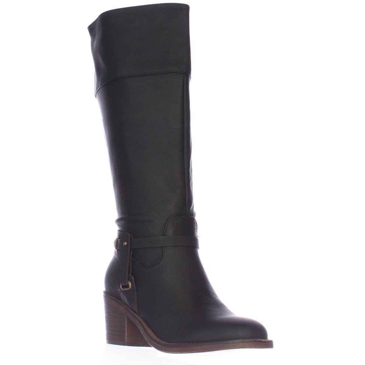 Womens Xoxo Marisa Wide Calf Square Toe Knee High Boots