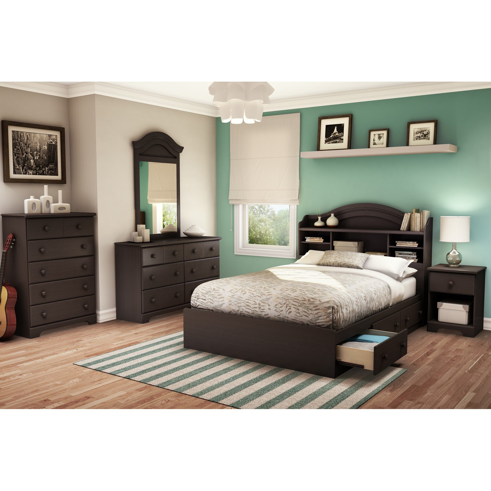 New Bedroom Set South Shore Summer Breeze 4 Piece Bedroom Set Twin Multiple Finishes Walmart