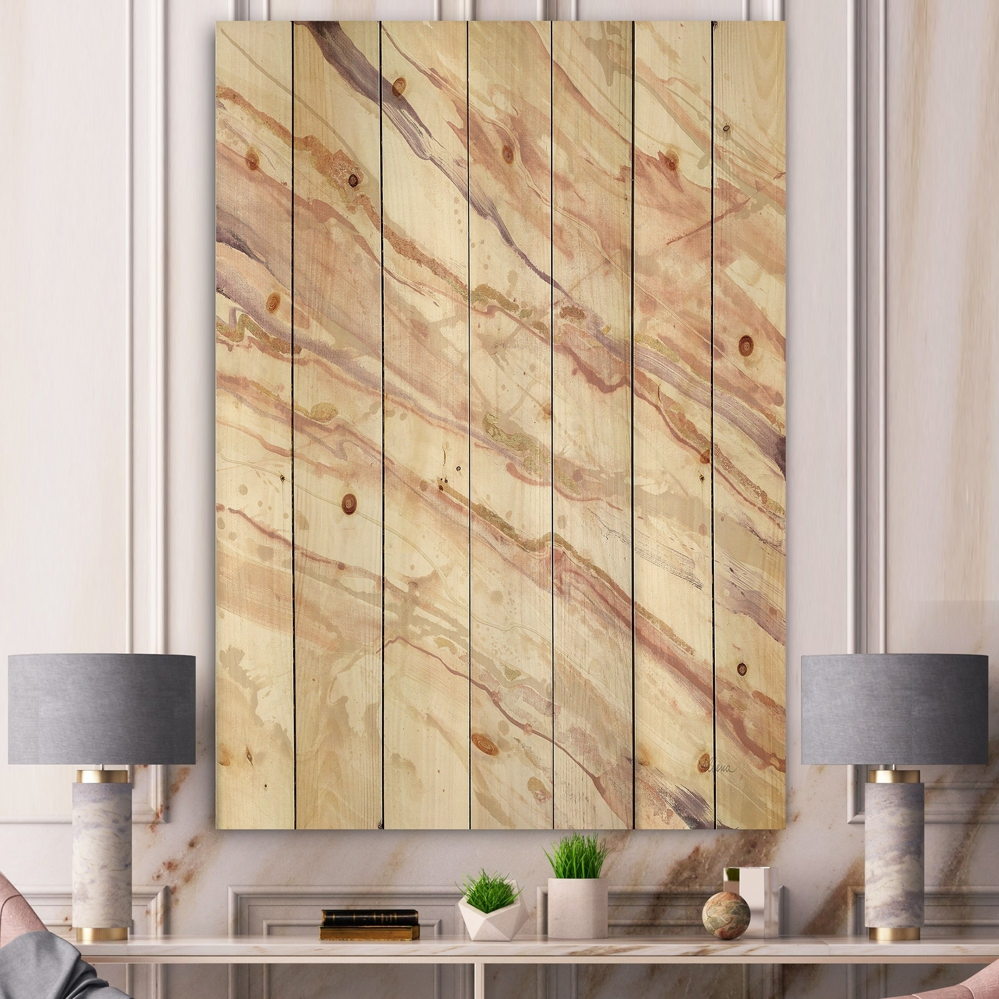 Abstract Wood Wall Art Design Art Designart Copper Shabby Dreams Shabby Chic Print On Natural Pine Wood Multi Color