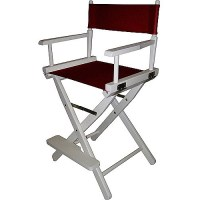 "24"" Director's Chair White Frame-Burgundy Canvas - Walmart.com"