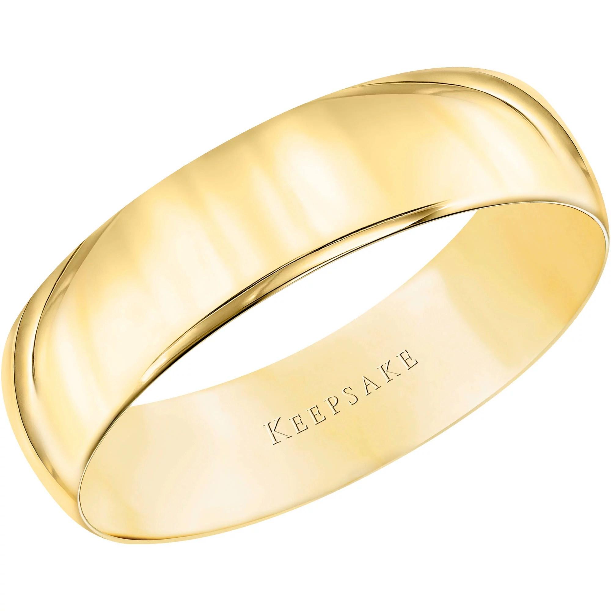 keepsake wedding rings Keepsake 10kt Yellow Gold Wedding Band With High Polish Finish 5mm