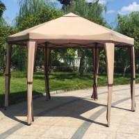 Kinbor 12' x 8' Outdoor Patio Iron Gazebo Canopy Garden ...