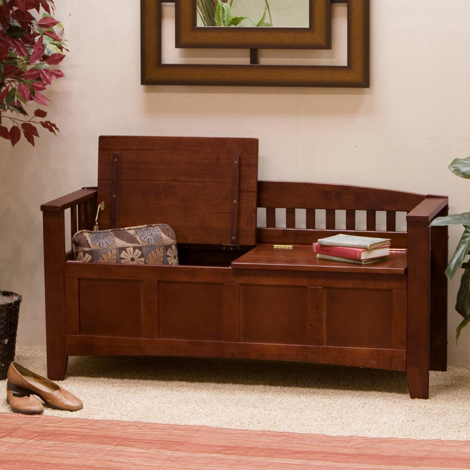 Wooden Storage Bench Linon Hunter Storage Bench