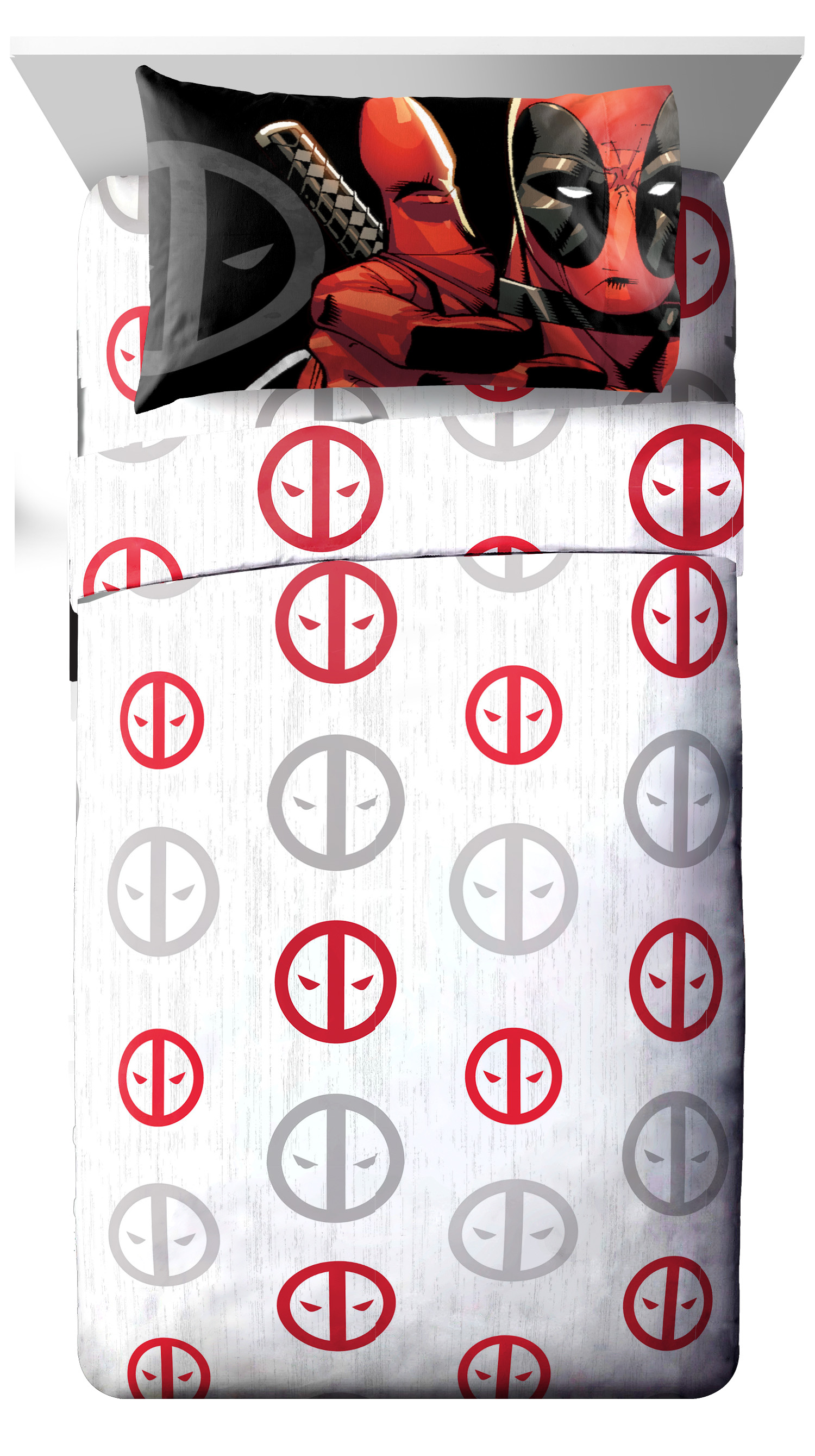 Deadpool Bettwäsche Marvel Deadpool Invasion 3 Piece Twin Sheet Set