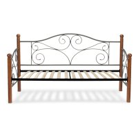 Doral Complete Metal Daybed with Scrolled Spindle Panels ...