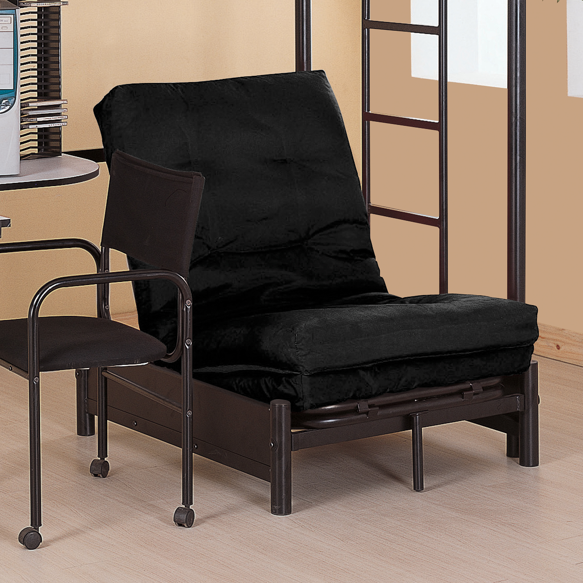 Futon Nice Coaster Futon Pad Only Black