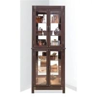 Red Barrel Studio Wellesley Lighted Corner Curio Cabinet ...