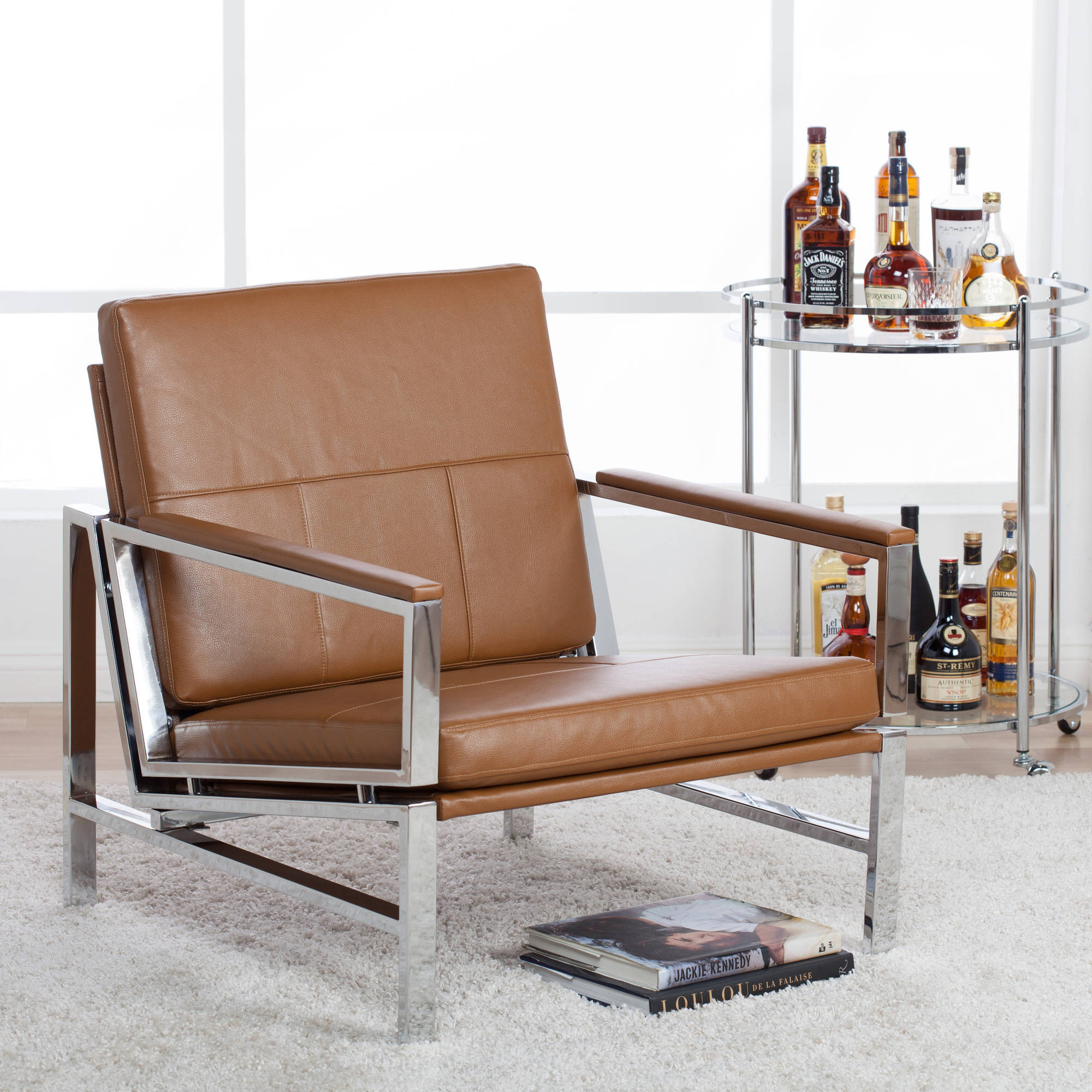 Leather Lounge Studio Designs Home Atlas Bonded Leather Lounge Chair