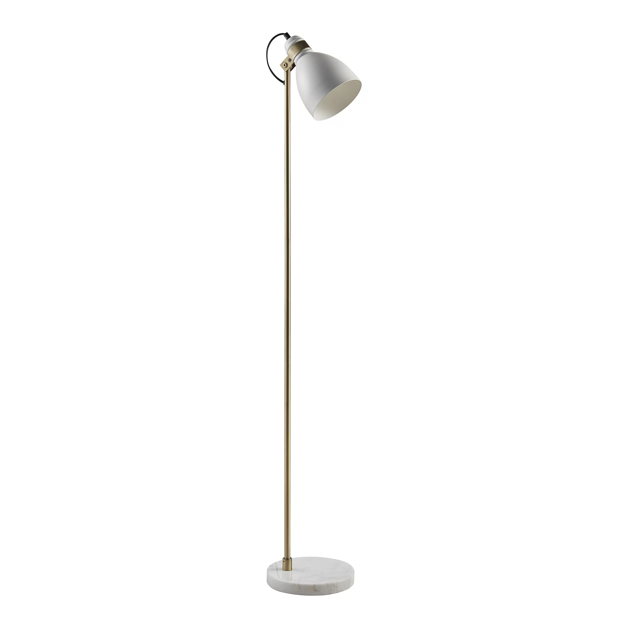 White Base Floor Lamp Versanora Quincy Floor Lamp With White Marble Base