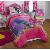 Dreamwork's Trolls Move Poppy Reversible Twin Full Bedding ...