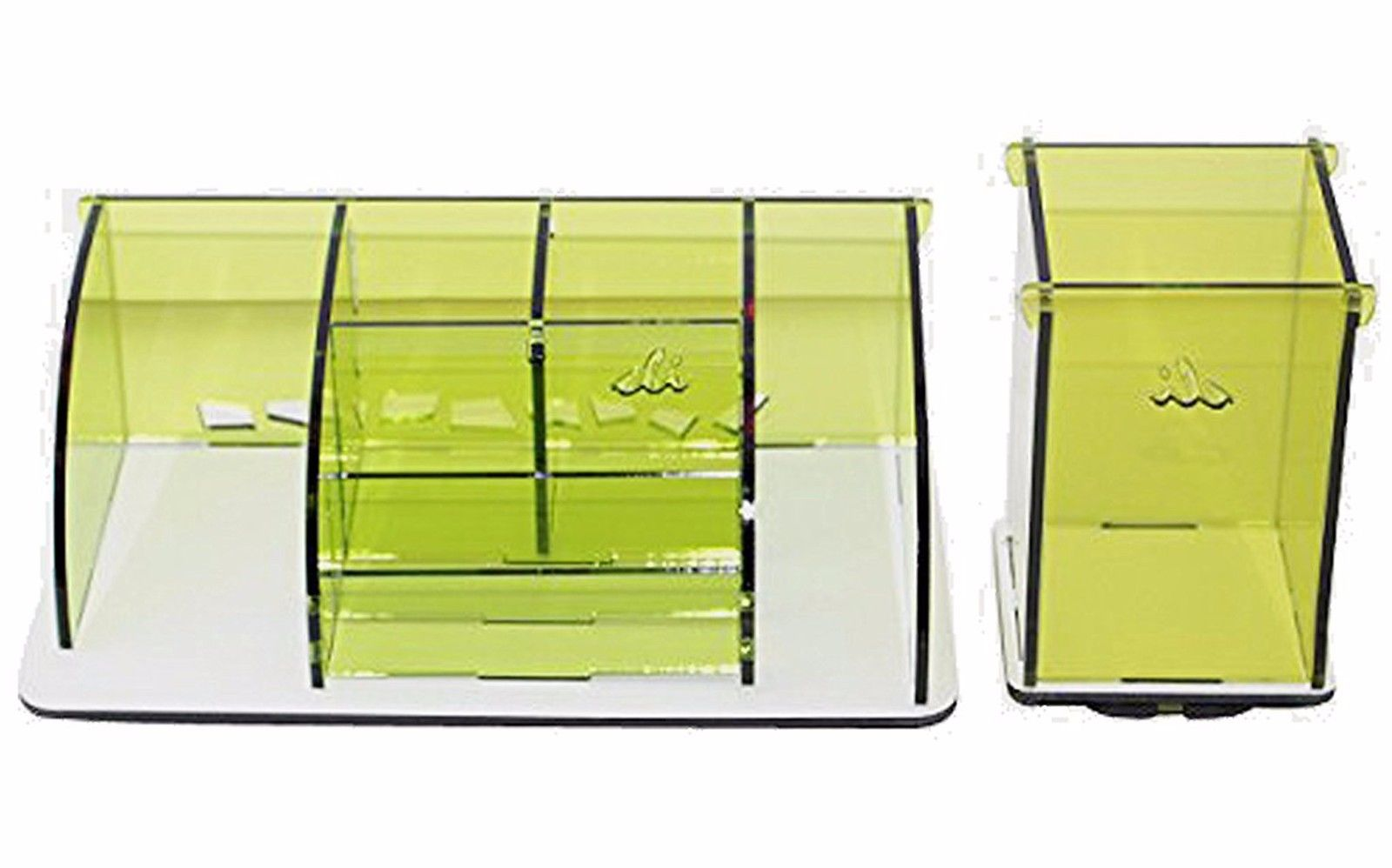 Stationary Boxes Set Of 2 Stationery Desk Supplies Organizer Storage Boxes For Paper Pens Snacks Etc