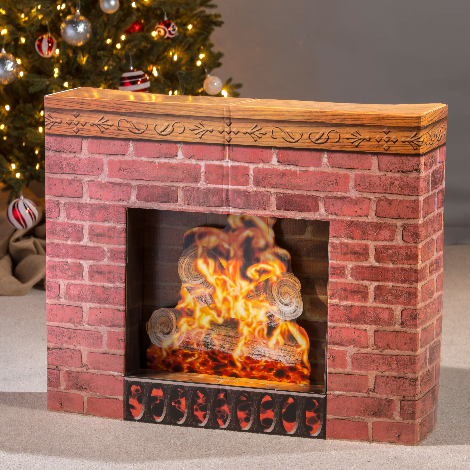 Fake Fireplaces For Decoration Fireplace Prop Cardboard Stand Up