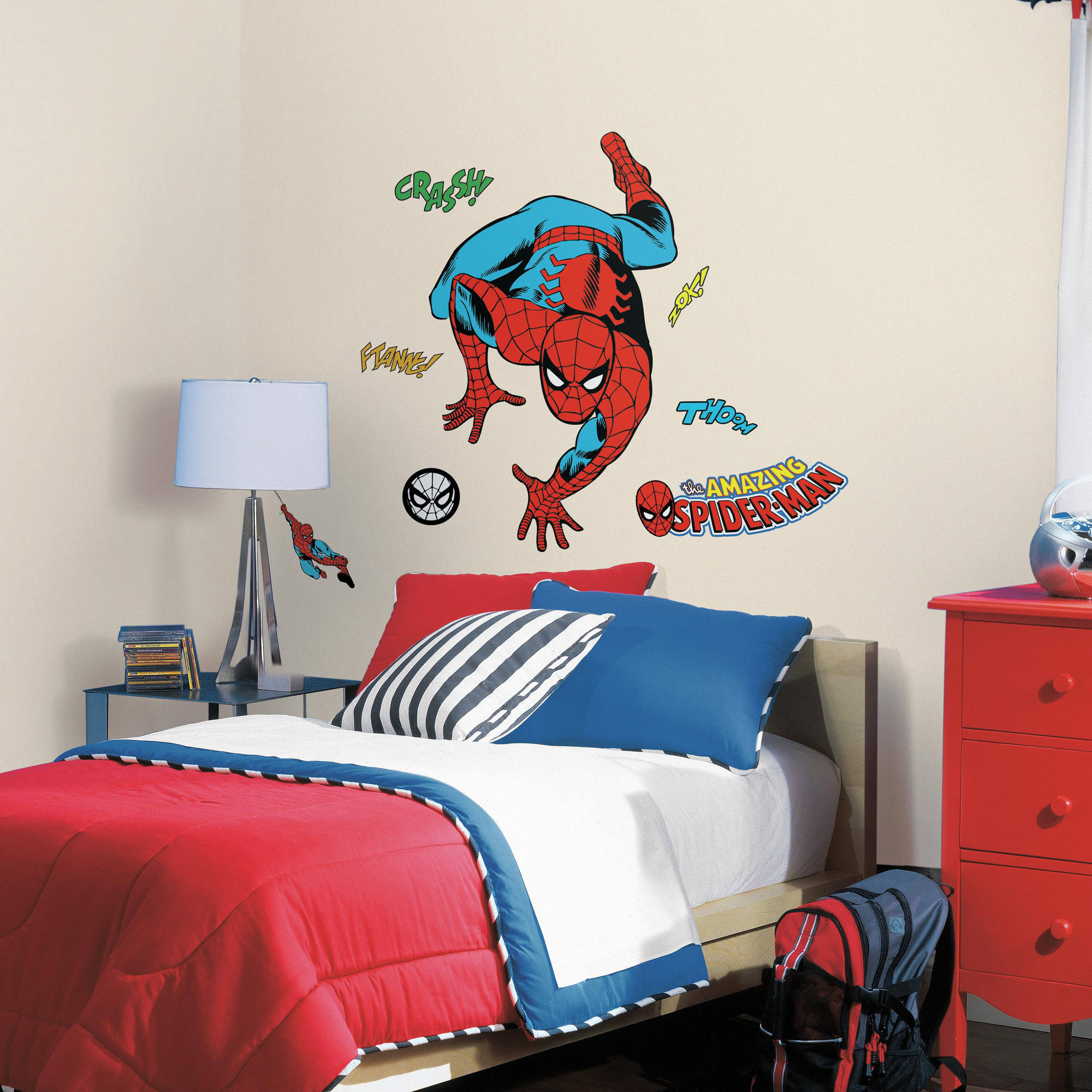 Comic Wall Decor Roommates Decor Classic Spider Man Comic Peel And Stick Wall Decals