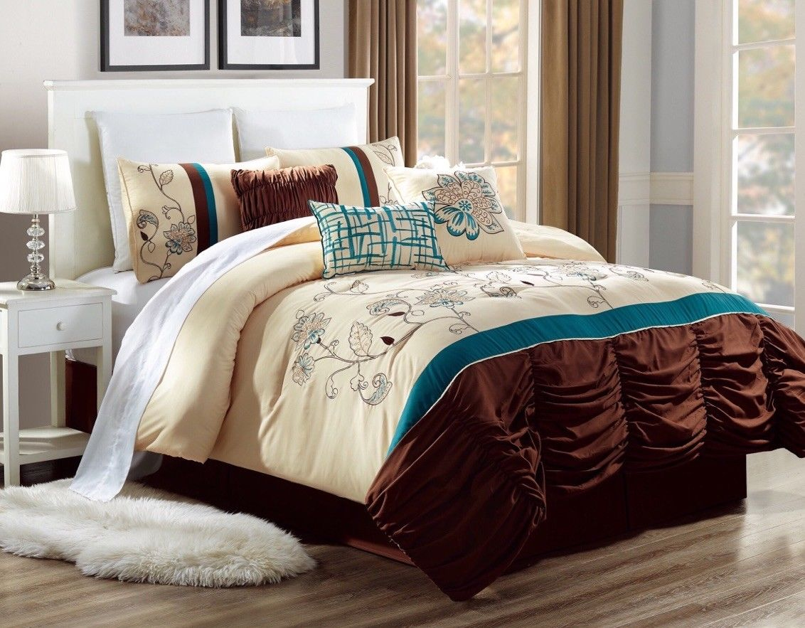 Dressing A Bed King 3pc Alex 6 Ultra Soft Printed Microfiber Duvet Cover Bedding Set Embroidered Duvet Bed Dressing With Hidden Zipper Closure On Side And Pillow