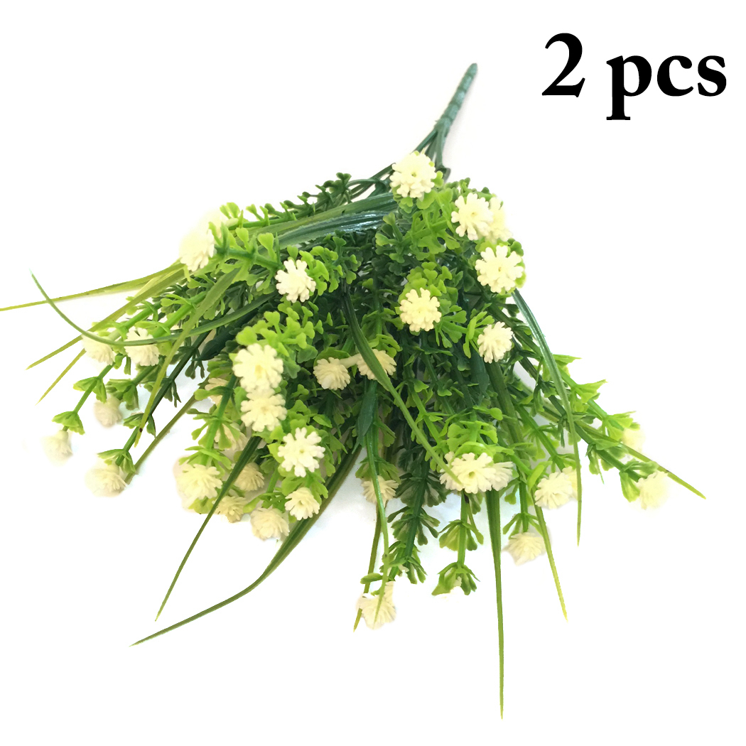 Lifelike Plants 2 Bunches Artificial Flower Justdolife Lifelike Fake Plant