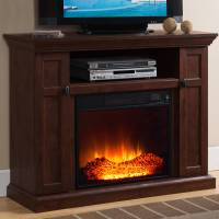 """Prokonian Electric Fireplace with 46"""" Mantle with Storage ..."""