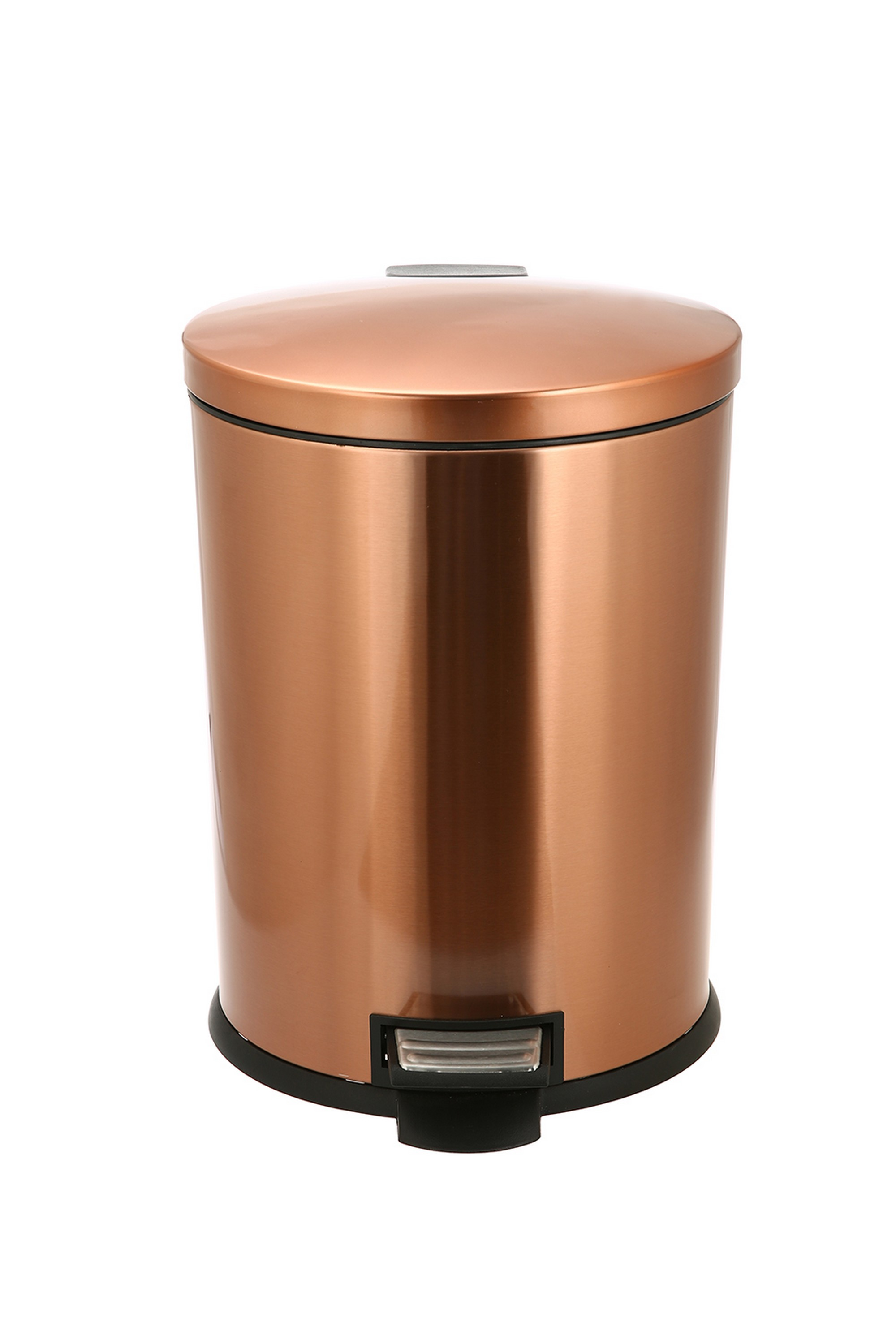 Copper Trash Can With Lid Better Homes And Gardens 10 5 Gallon Copper Oval Waste Can With Soft Close Lid