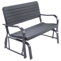 Costway Outdoor Patio Swing Porch Rocker Glider Bench ...