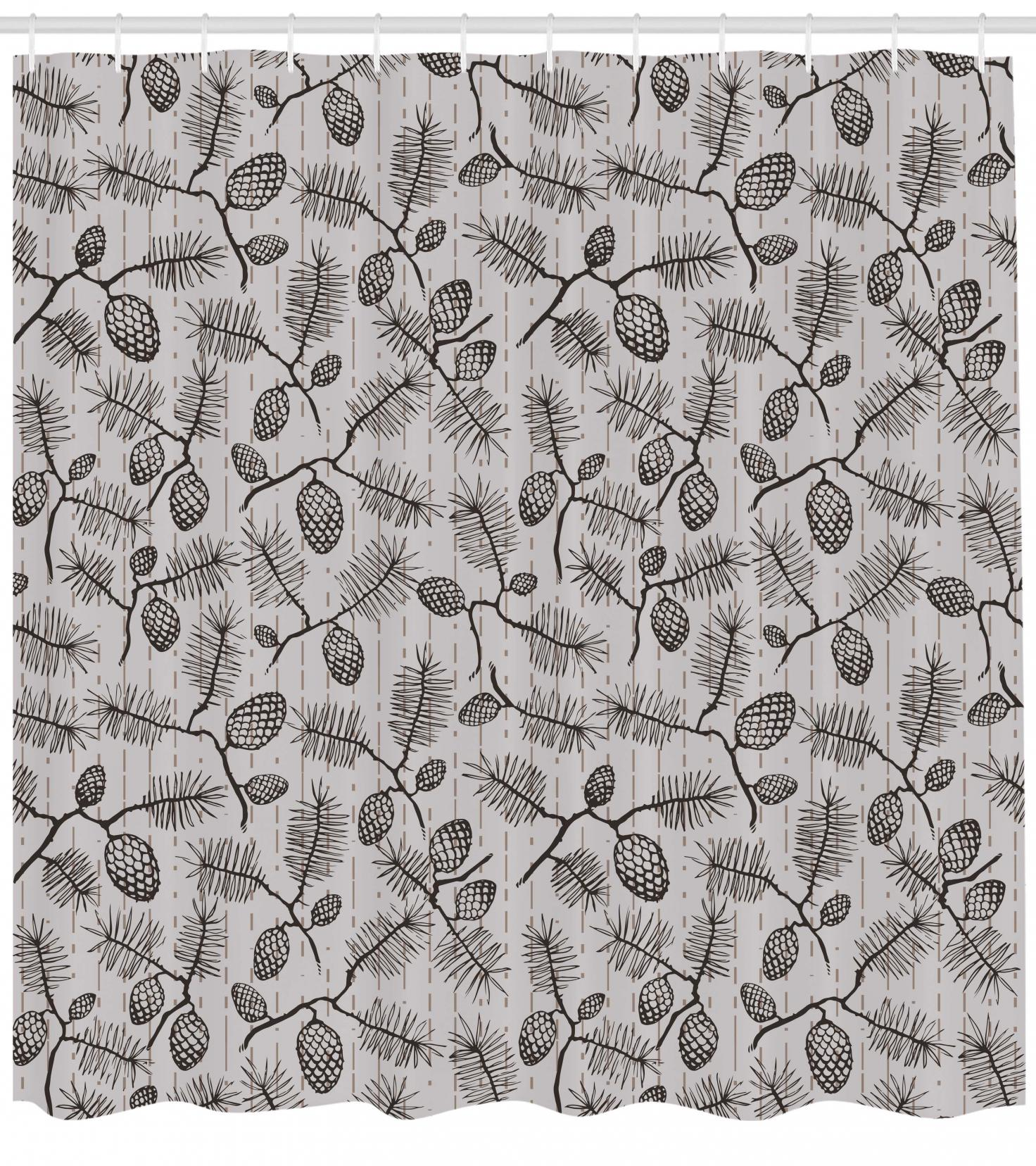 Earth Tone Curtains Pine Cone Shower Curtain Earth Tones Inspired Fir Cones