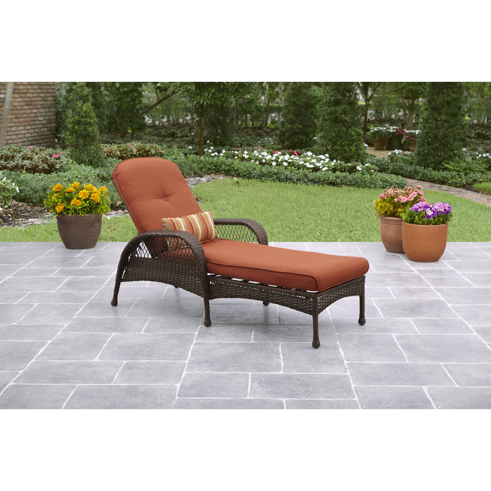Furniture Chaise Better Homes Gardens Azalea Ridge Outdoor Chaise Lounge